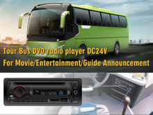 Single DIN Bus & Coach 12 / 24V DVD Media Player